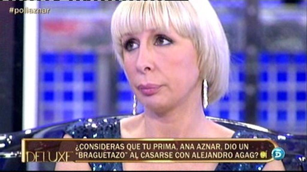 Aran Aznar cree que su prima Ana dio un 'braguetazo' al casarse con Alejandro Agag