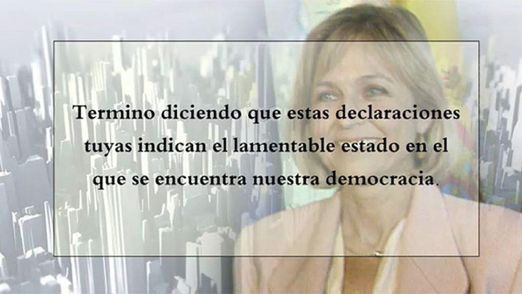 """Gómez - Limón, a Rafael Hernando: """"Tus declaraciones indican el lamentable estado en el que se está nuestra democracia"""""""