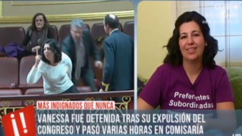 """Vanesa, detenida: """"Quería expresarle a Guindos que me iba a robar mi dinero"""""""