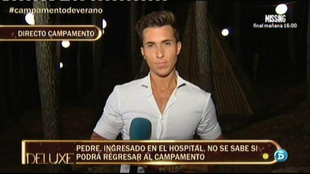 David Pedre, hospitalizado