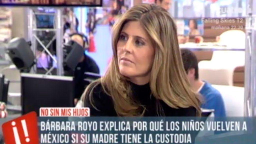 Bárbara Royo explica por qué los niños de Isabel vuelven a México