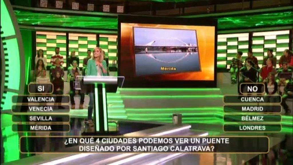 ¿En qué 4 ciudades podemos ver un puente diseñado por Santiago Calatrava?