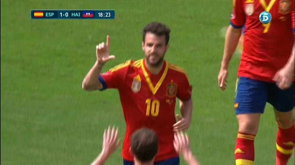 Gol: España 2 - 0 Haití (min. 18)