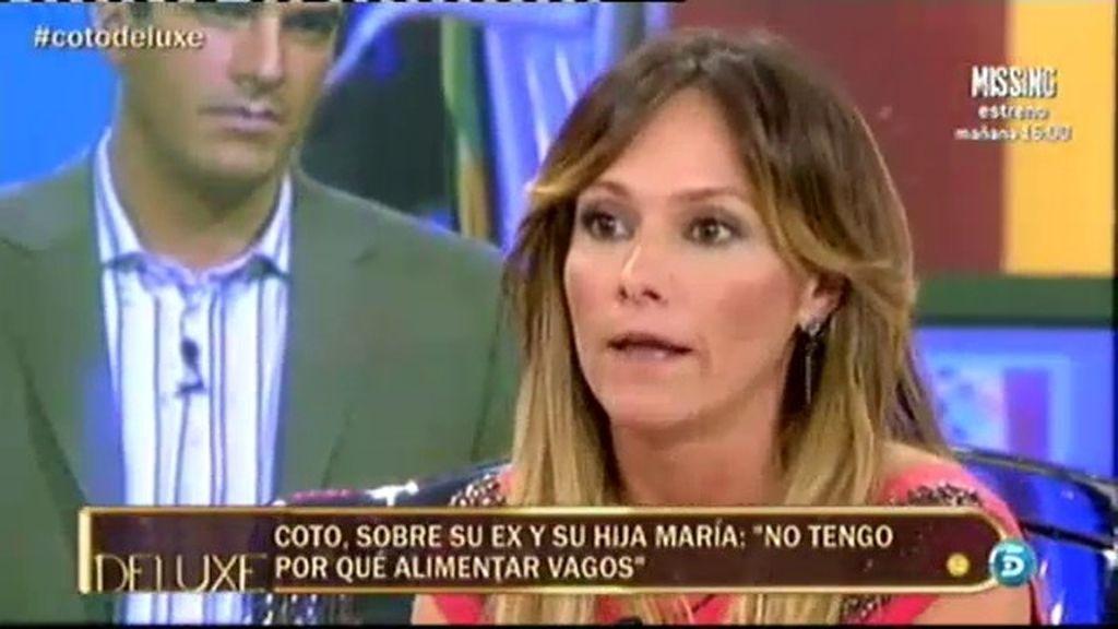 """María, hija de Coto Matamoros: """"Mi padre no me ha pasado un duro en su vida"""""""