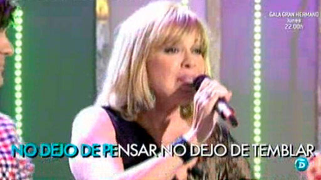 Bárbara Rey canta en directo en QTTF