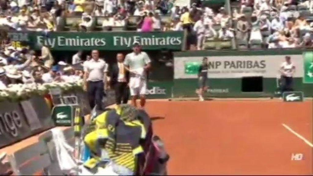 Djokovic, parada para ir al servicio