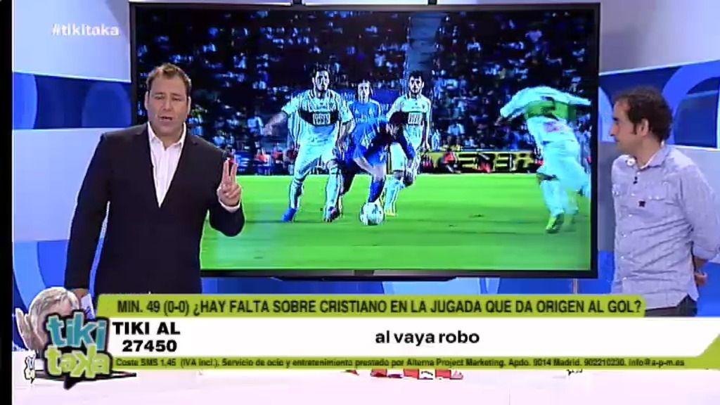 ¿Hubo falta a Cristiano Ronaldo en la jugada del primer gol?
