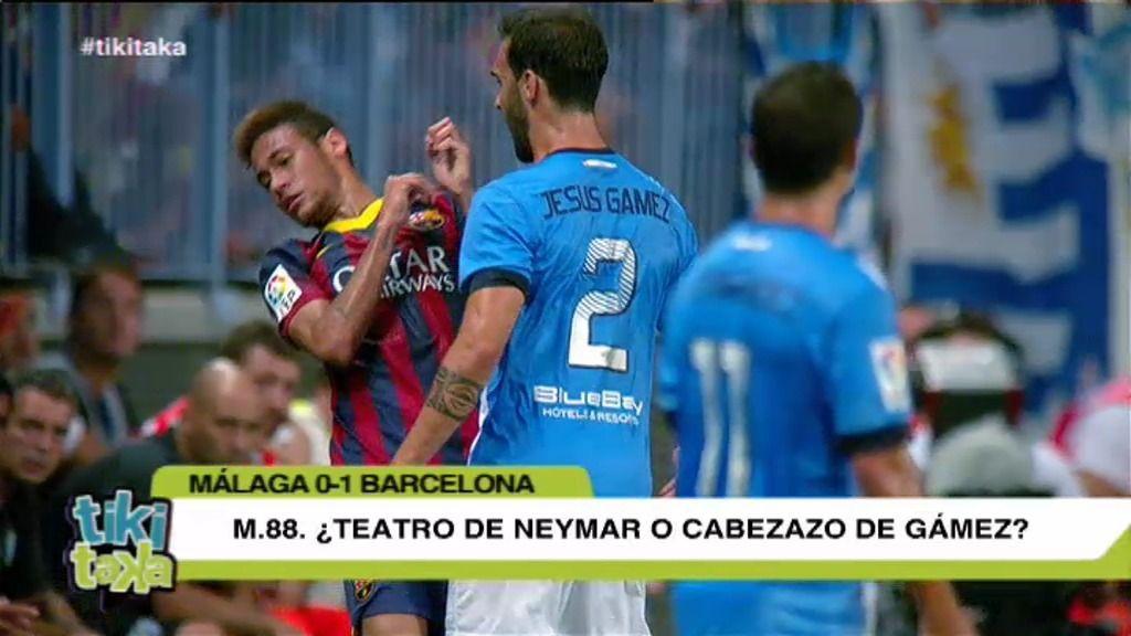 """La polémica: """"¿Teatro de Neymar o cabezazo de Gámez?"""
