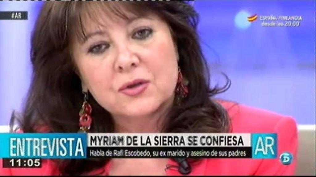 """Myriam de la Sierra: """"Mis padres me apoyaron en la nulidad y eso no le pareció bien a Rafi"""""""