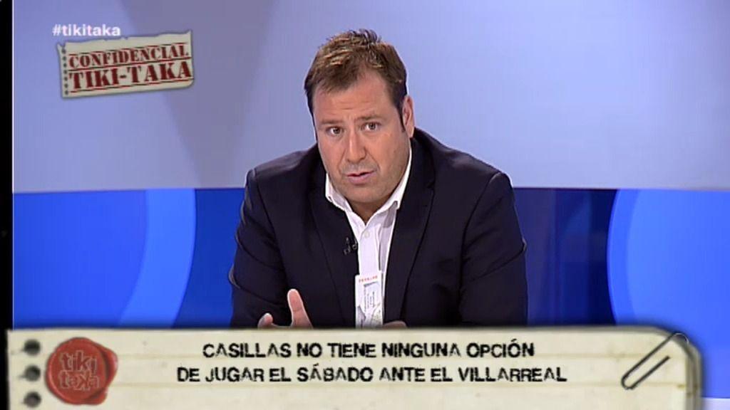 """Enrique Marqués: """"Casillas no va a jugar el sábado contra el Villareal"""""""