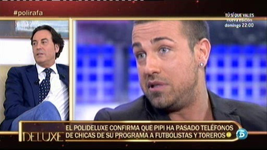 El 'poli-deluxe' confirma que Pipi ha pasado teléfonos a futbolistas
