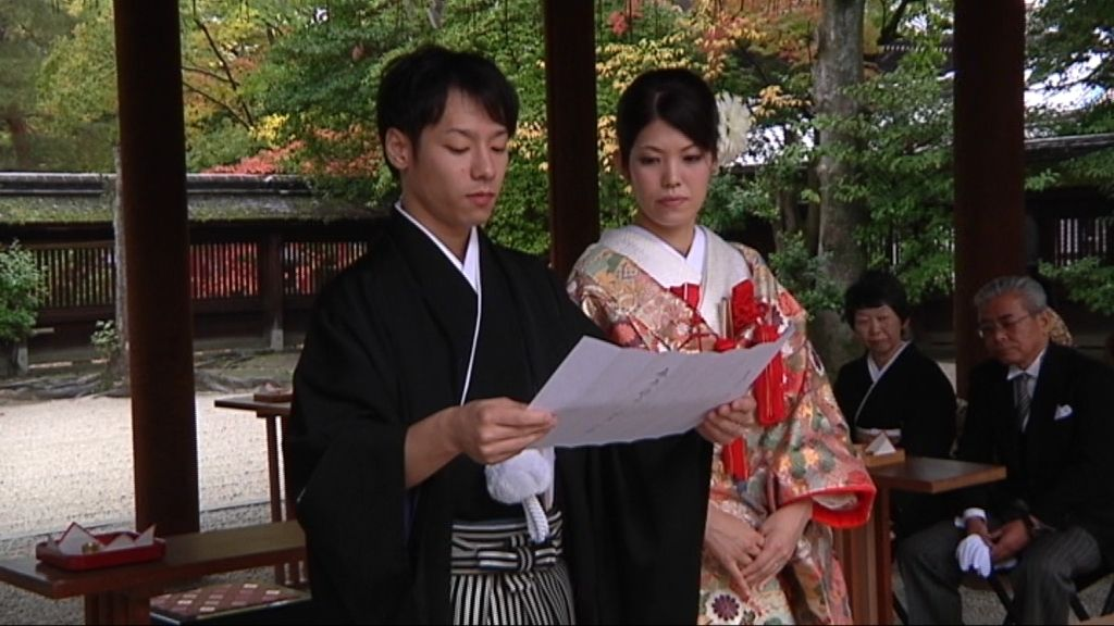 Las bodas japonesas se celebran en silencio