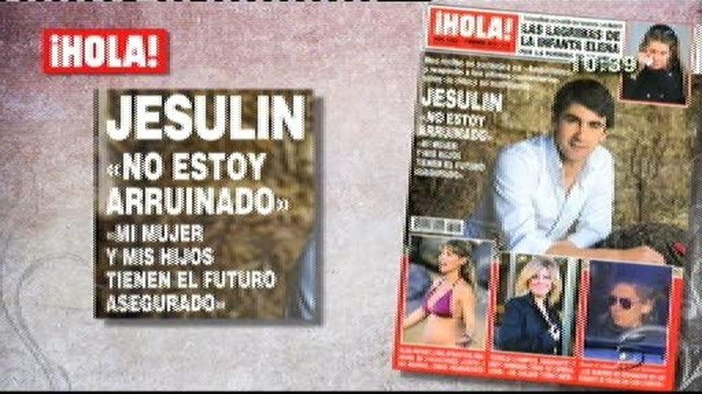 """Jesulín de Ubrique: """"No estoy arruinado. Mi mujer y mis hijos tienen el futuro asegurado"""""""
