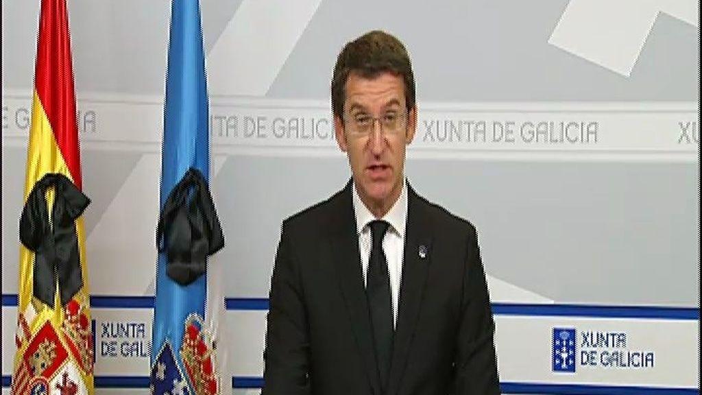 """Núñez Feijóo: """"Galicia estará por siempre más triste"""""""