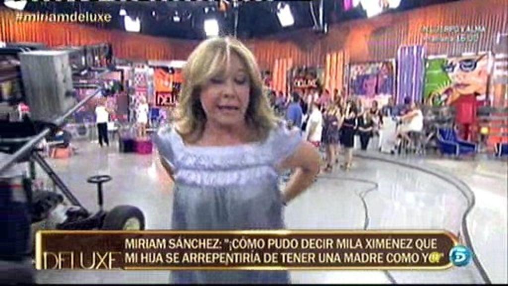 Mila Ximénez se va de plató tras enfrentarse con Miriam Sánchez