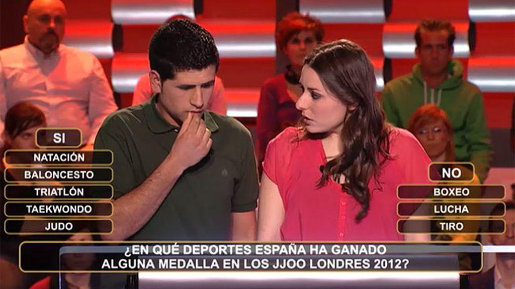 Una pareja consolidada contra las medallas de oro españolas en Londres 2012