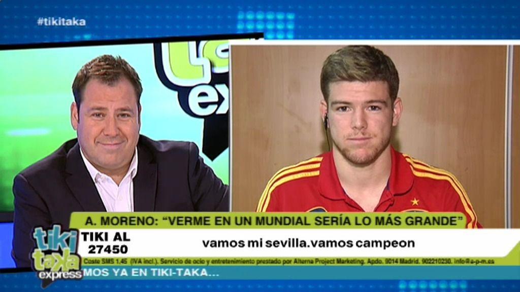 """Alberto Moreno: """"Ramos me ha dado muy buenos consejos"""""""