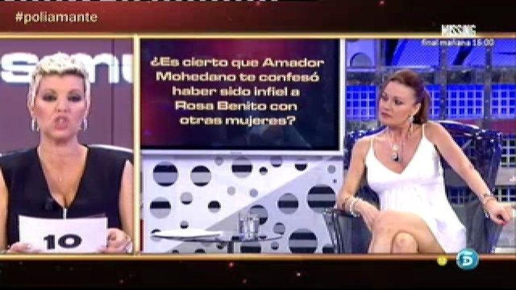 Amador Mohedano fue infiel a Rosa Benito con otras mujeres