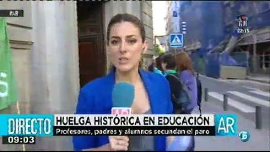 Huelga histórica en educación