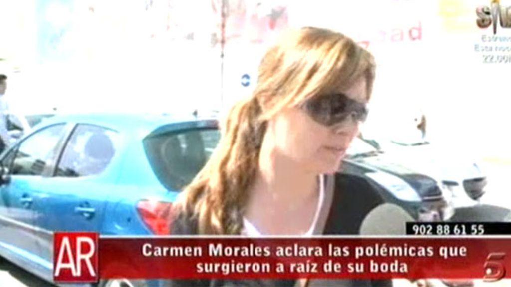 Carmen Morales sobre su boda