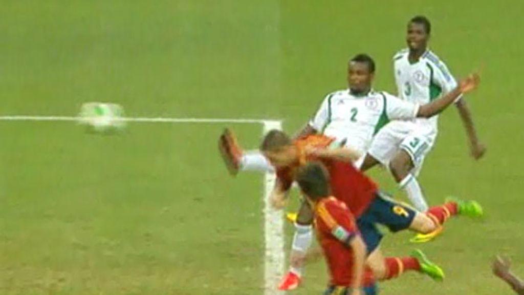 Gol: Nigeria 0-2 España (min.62)
