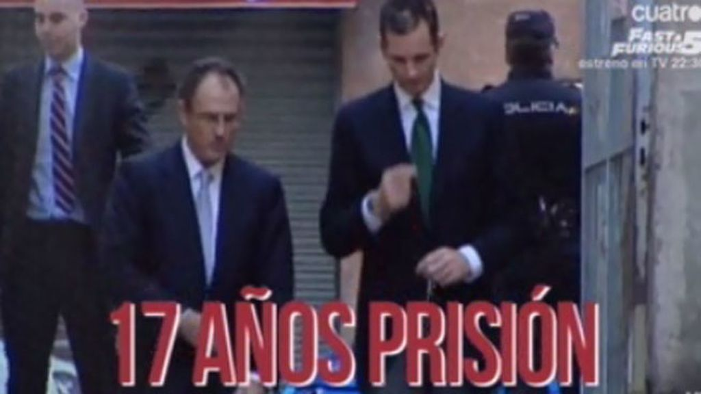 La Fiscalía estudia solicitar una pena de 17 años para Urdangarín