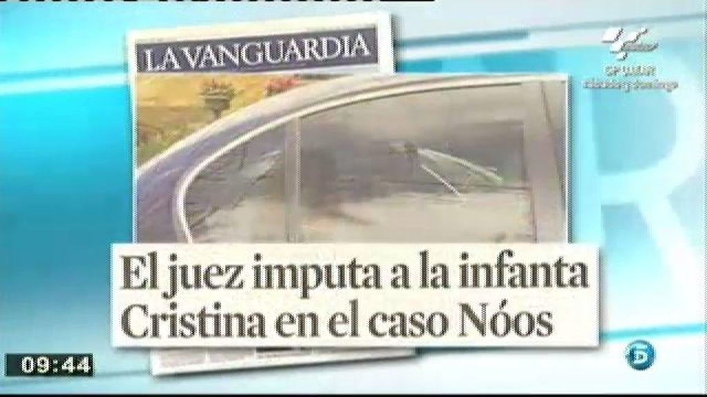 La imputación de la Infanta acapara las portadas
