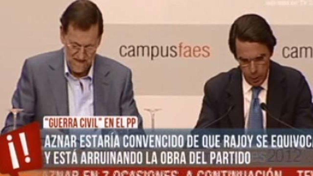 Éstos son los motivos por los que Aznar estaría en contra de Mariano Rajoy