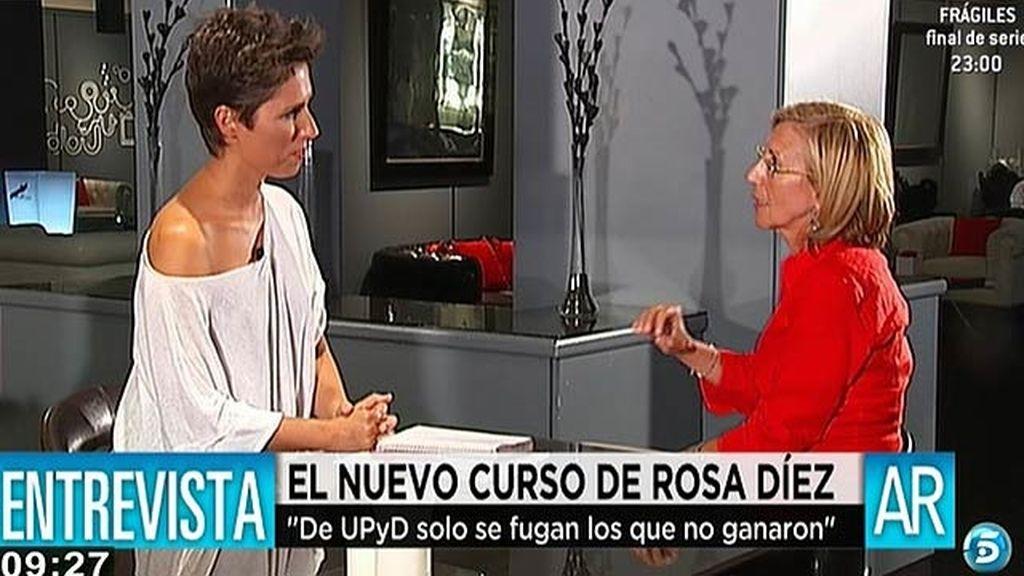 """Rosa Díez: """"De UPyD sólo se fugan los que no ganaron"""""""