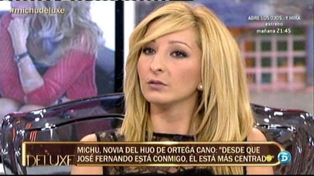 """Michu: """"Desde que está conmigo, José Fernando está más centrado"""""""