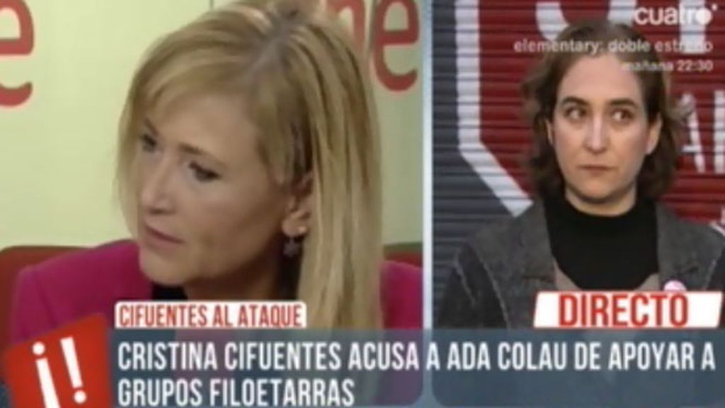 Ada Colau va a emprender acciones legal contra Cristina Cifuentes
