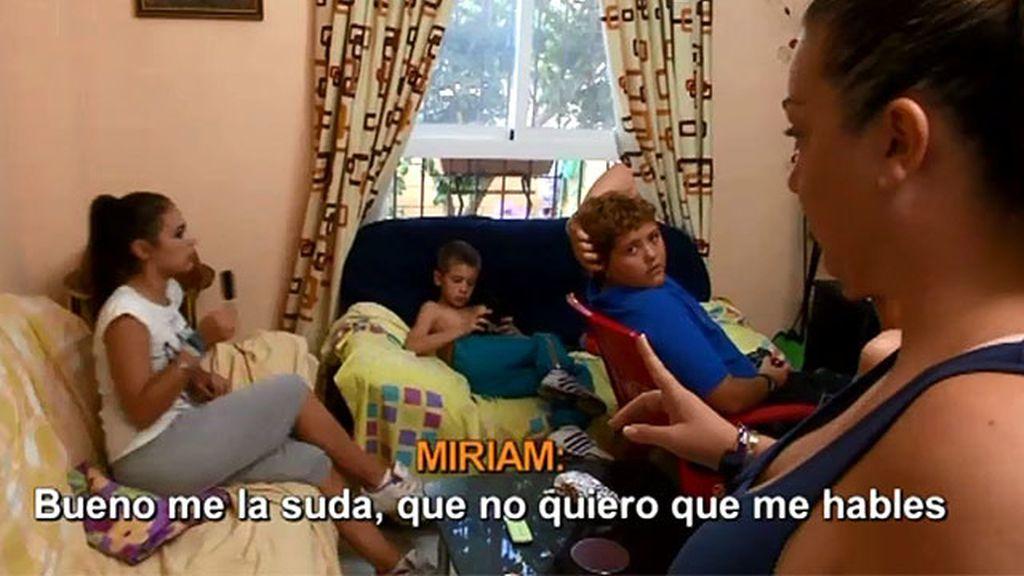 Miriam, castigada sin móvil