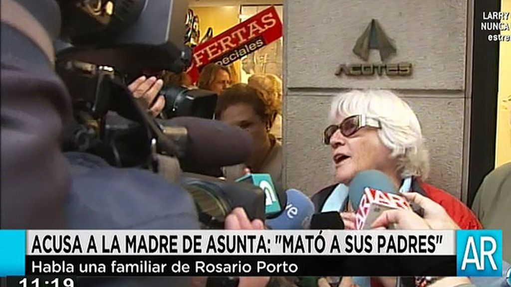 """Una prima de Rosario Porto: """"Ella también mató a sus padres"""""""