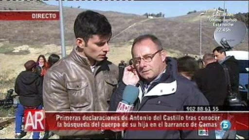"""Antonio del Castillo, esperanzado ante la búsqueda: """"A ver si encontramos algo y podemos tenerla con nosotros?"""