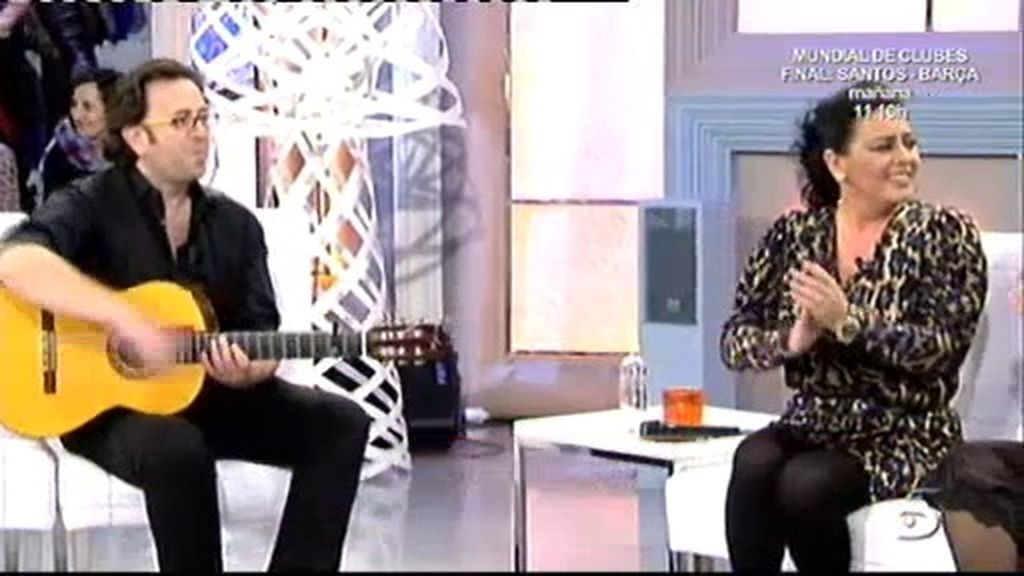 El guitarrista de María del Monte
