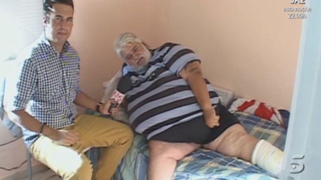 200 kilos y una pierna escayolada