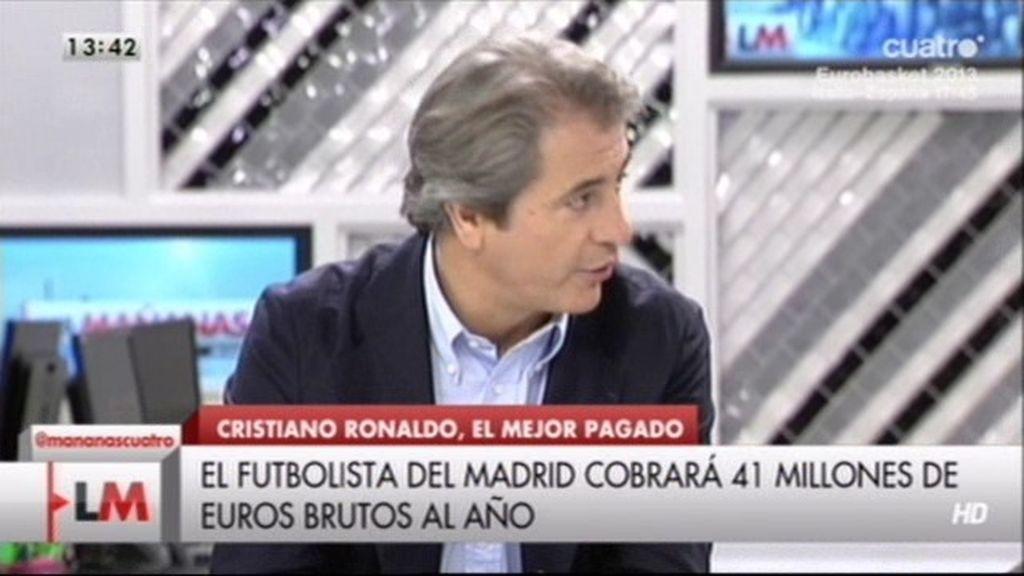 Manolo Lama discute con Pablo Iglesias por el sueldo de Ronaldo
