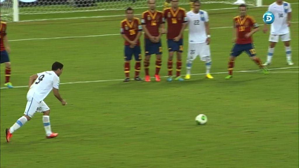 Gol de Luis Suárez (España 2 - 1 Uruguay)