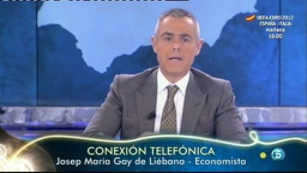 """Gay de Liébana, economista: """"No vamos a ser intervenidos pero nos van a controlar de forma muy estrecha nuestras cuentas """""""