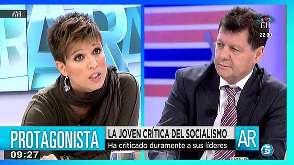 Beatriz Talegón 'cierra la boca' a Alfonso Rojo, colaborador de 'AR'