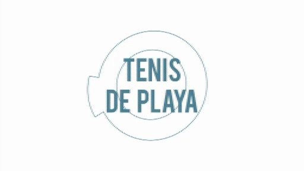 Adela y Pedro, expertos en 'tenis de playa'