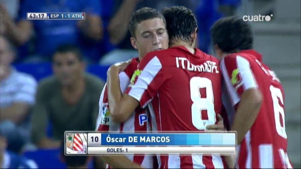 De Marcos logra el empate ante la pasividad de la defensa del Espanyol
