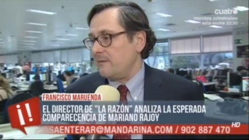 """Marhuenda: """"Fracaso de Rubalcaba y victoria de Mariano Rajoy"""""""