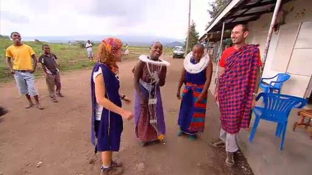 Sorprendidos por una tribu Masai