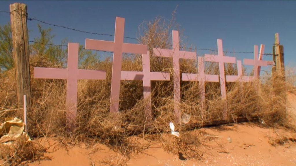 Cruces rosas, símbolo de las desaparecidas
