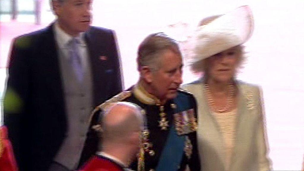 Camilla llega a la Abadía