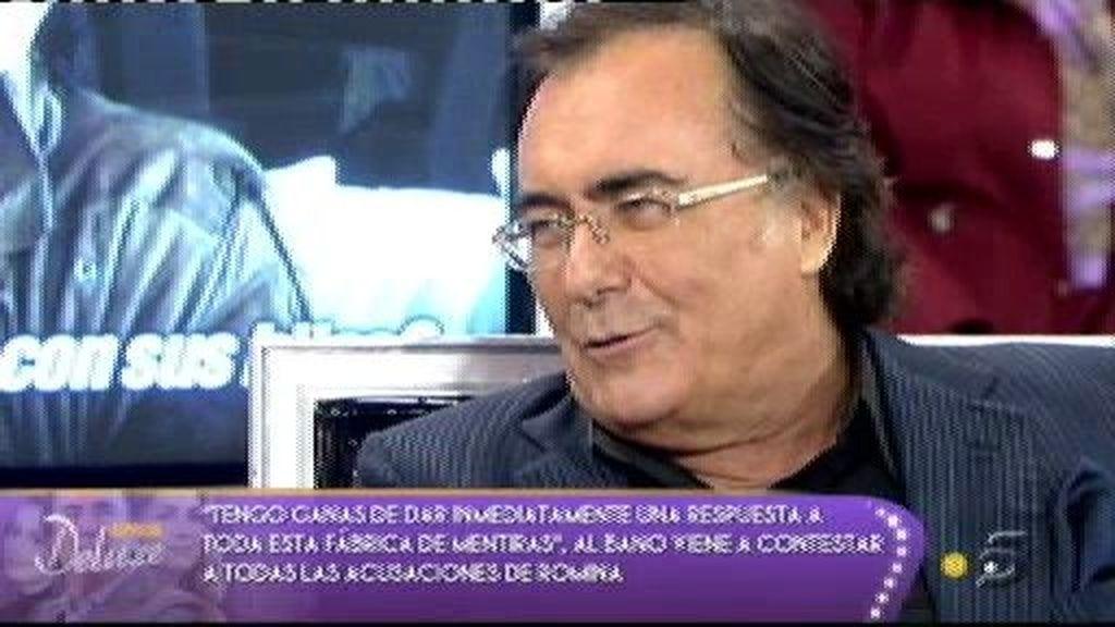 """Al Bano: """"También vengo a defender a Romina"""""""