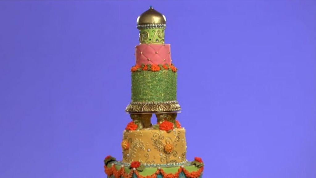 Tarta romántica, tarta Bollywood y tarta de boda moderna (T03xP12)