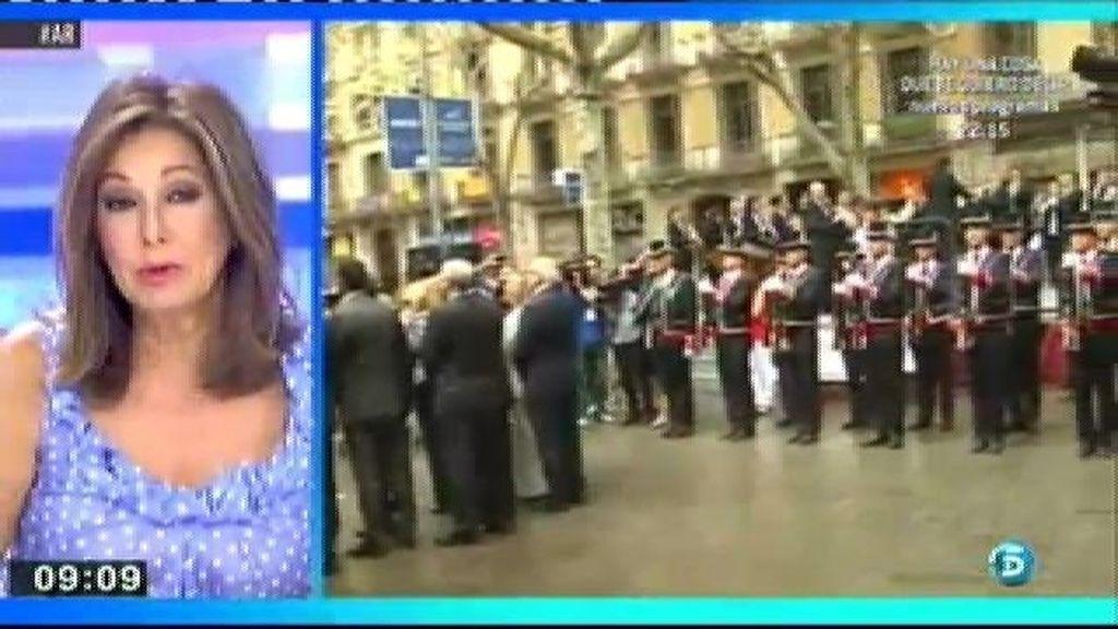 La cadena humana de la diada corta la circulación en Cataluña