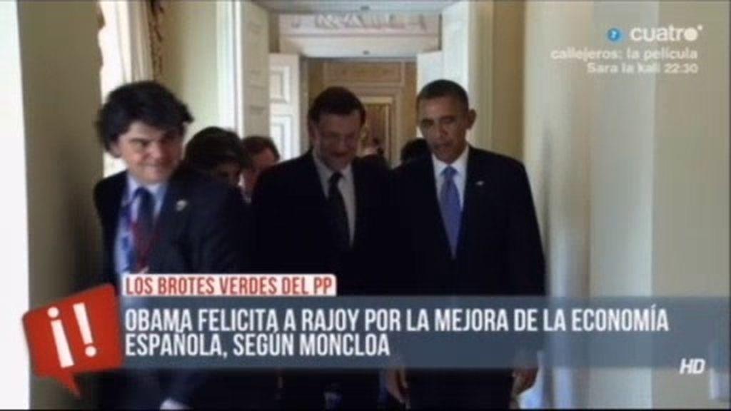 Obama felicita a Rajoy por la mejora de la economía española, según Moncloa